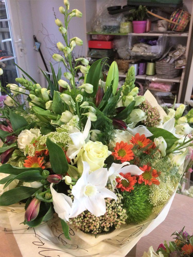 Luxury mixed autumn fresh flower bouquet