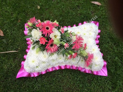 8. Traditional Funeral Pillow - wreath / tribute available in a choice of c