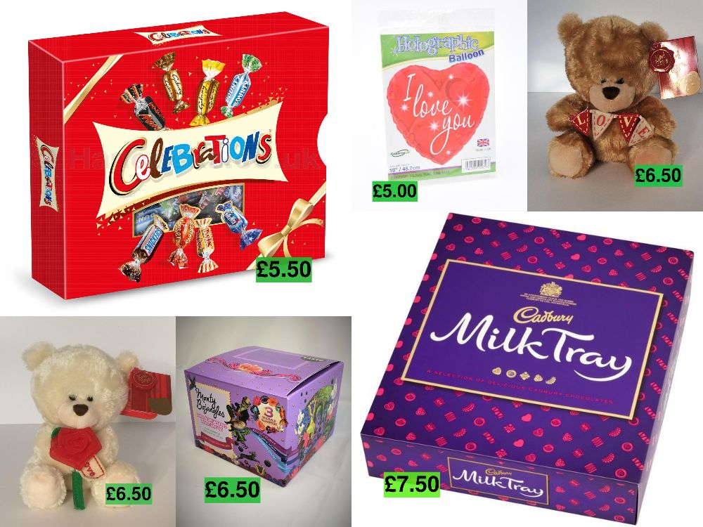 2.Gifts, Helium, Party Balloon Chocolates Teddies