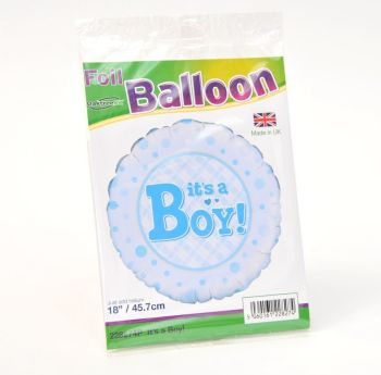 New Baby Boy - Helium filled gift balloon - £5.00