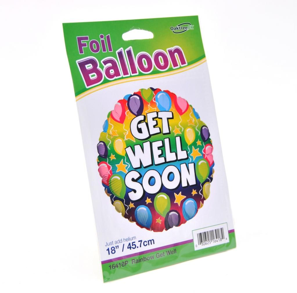 Foil, Helium filled Balloon, GET WELL SOON - £5.00