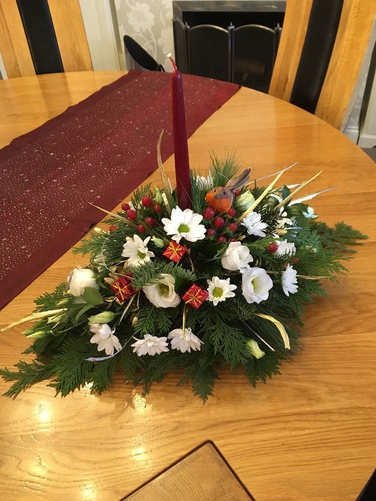 3. Christmas Table Gift Arrangement - from £22.00