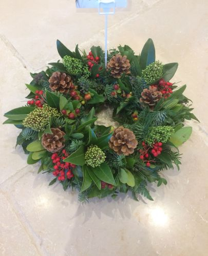 Winter/christmas funeral remembrance tribute wreath