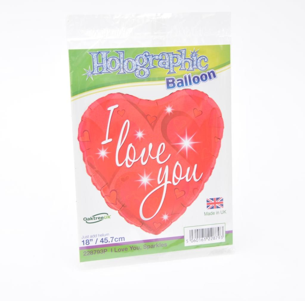 Foil Helium Balloon, I love you - Valentine's, Anniversary, Birthday - £5.0