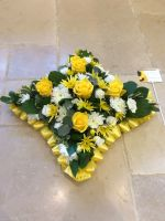 Funeral Loose open cushion tribute - choice of colours and edging - sizes approx. 38cm, 45cm, 50cm from £45.00
