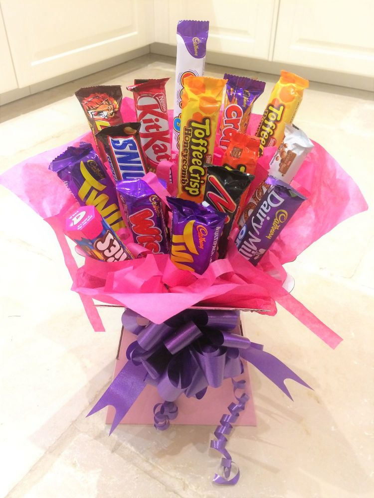 Chocolate Bar Bouquet - favourite sweets in a bouquet - available in Standa