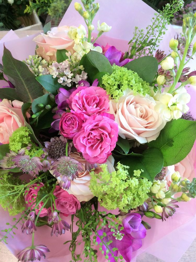 Mixed Spring Fresh Flower Bouquet - perfect for Easter, Birthdays, Annivers