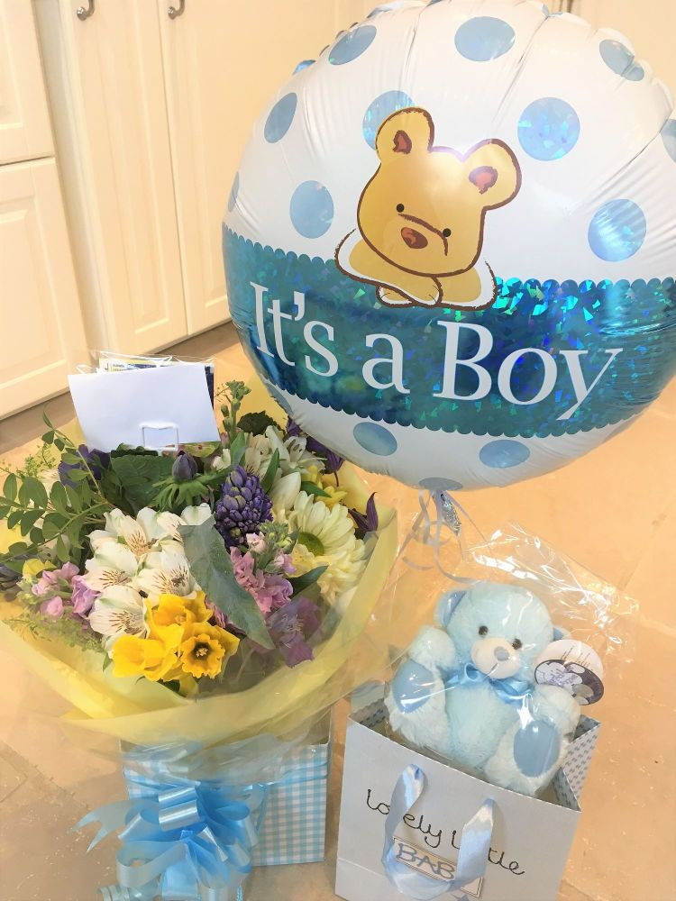 New Baby Boy Luxury Bouquet - £29.99