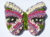 Funeral tribute/wreath butterfly - Telephone order ONLY