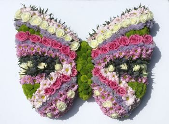 Funeral tribute/wreath butterfly