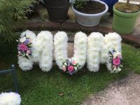 2. Funeral tribute Letters / Name - choice of colours available