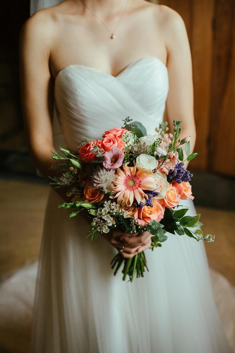 christina with bouquet the dairy waddesdon pro photo eneka stewart