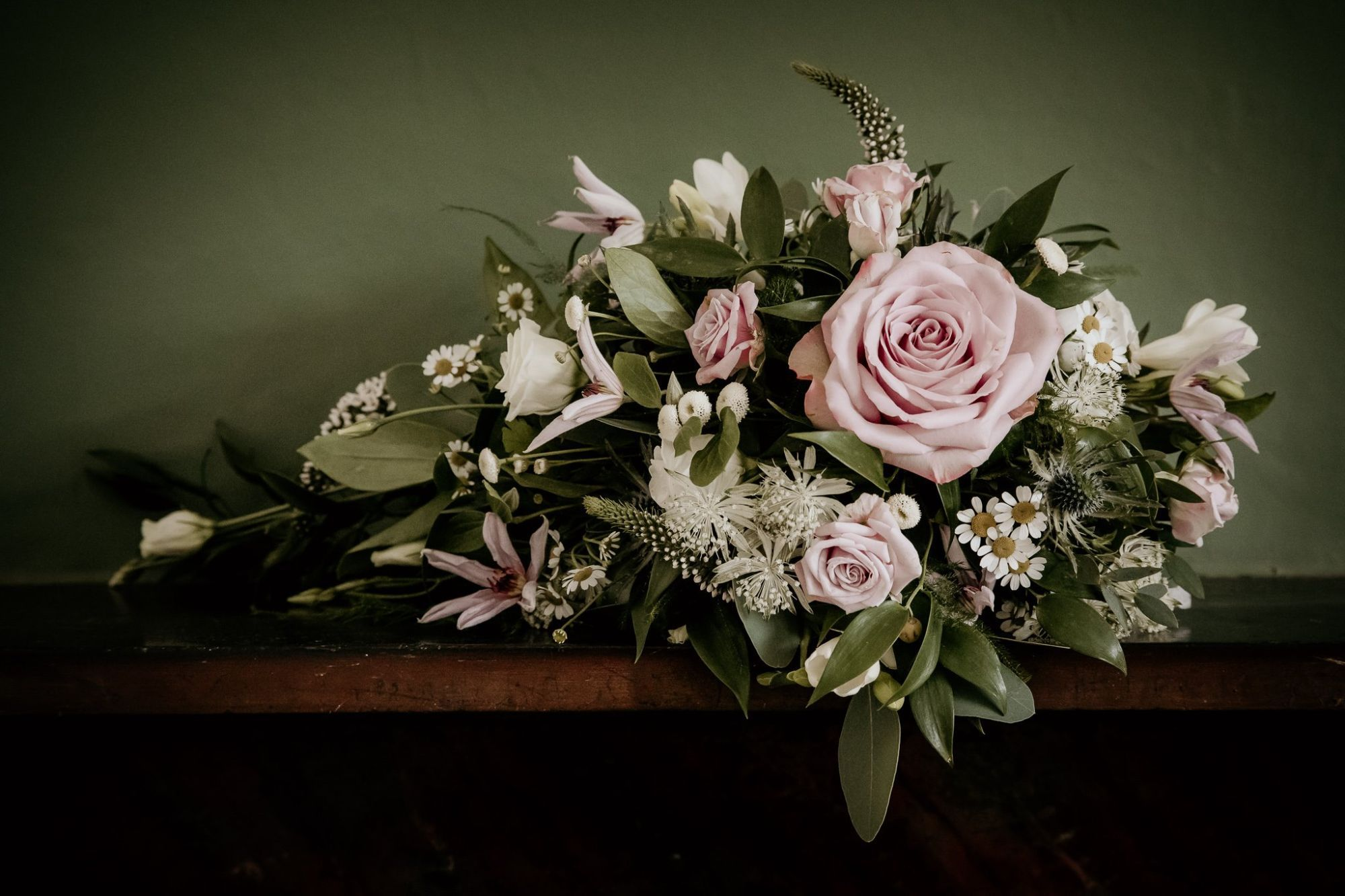 anna marc brides cascade bouquet willow house flowers photo 1st class weddi