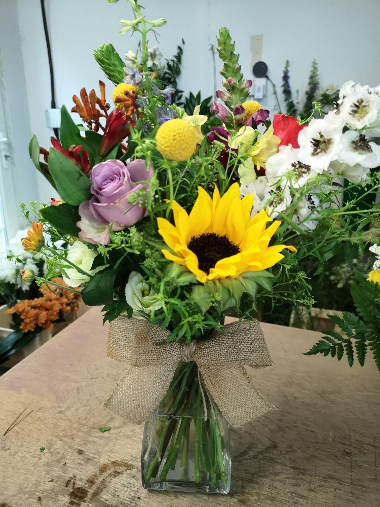 1. Vase of Fresh Seasonal Flowers - From £35.00