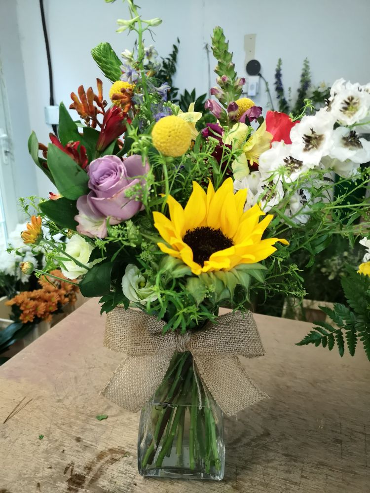 2. Vase of Fresh Seasonal Flowers - From £35.00