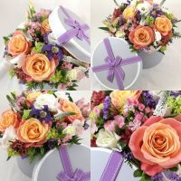 Ultimate, deluxe, hatbox of premium blooms
