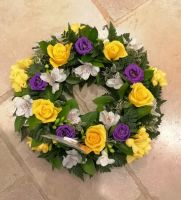 Classic open design funeral wreath - available in a choice of colours and sizes