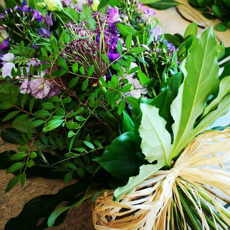 Environmental / Eco friendly Lay Flat Hand Tied Bouquet - choice of colours
