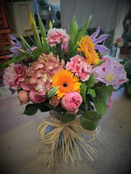 Eco / Environmentally friendly Vase of Fresh Seasonal Flowers - From £35.00
