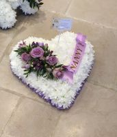 4. Traditional Heart Funeral Tribute - choice of colours and sizes available