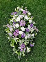 5. Casket double ended spray - 3', 4', 5' - coffin funeral tribute - Choice of colours and flowers