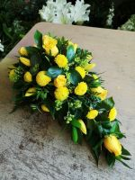 7. Single ended funeral spray - traditional funeral tribute - choice of colours