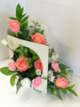 Large living card, fresh flower gift arrangement - £25.00