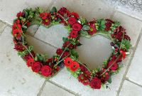 Double open entwined hearts - choice of colours