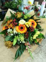Environmental / Eco friendly Lay Flat Hand Tied Bouquet - choice of colours - from £30.00