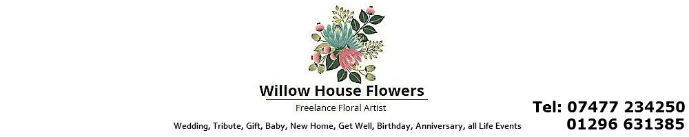 Willow House Flowers, site logo.