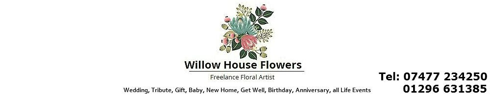 Willow House Flowers Florist, site logo.