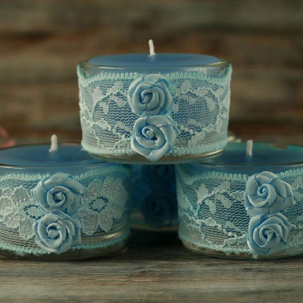 <!-- 012 --> Hand poured Lace Candle Sets