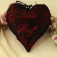 <!-- 013-->Valentine's Day Embroidered Hanging Heart