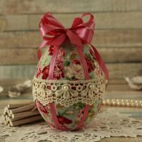 <!-- 007 -->Shabby Chic Blue and Pink Easter Egg Decoration