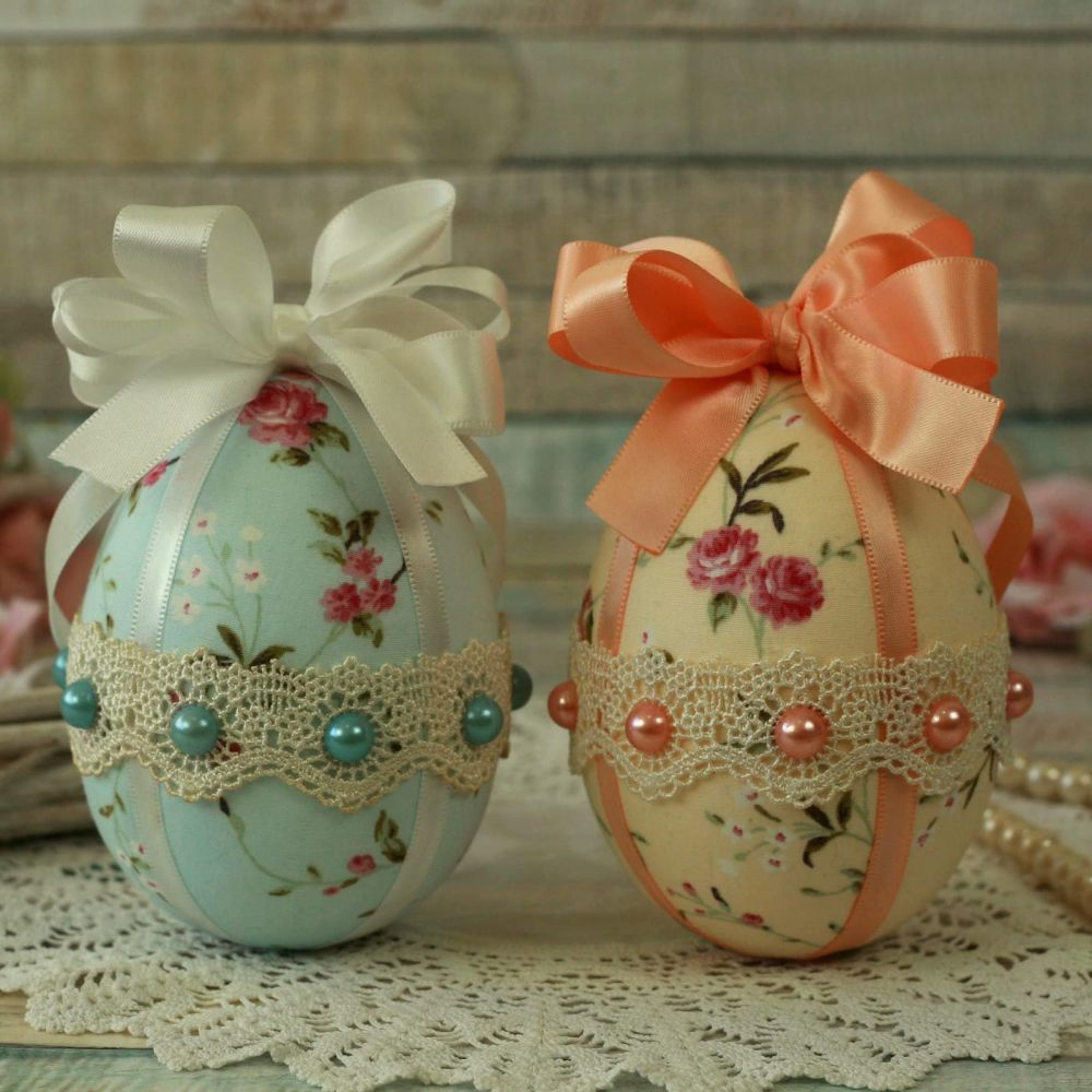 <!-- 013 -->Vintage Style Easter Egg Tree Decorations