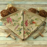 <!-- 001 -->Botanical Floral Fabric Bunting