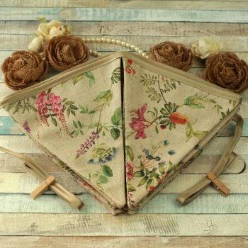 Botanical Floral Fabric Bunting