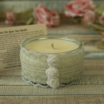 Scented Soy Wax Candle: Floral Candle Gift