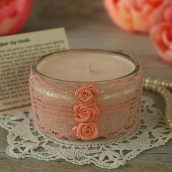 Scented Soy Wax Candle: Thank You Candle Gift