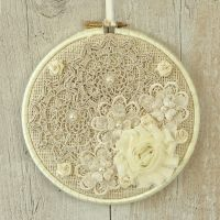 <!-- 002 -->Shabby Chic Home Decoration: Fabric Wall Art