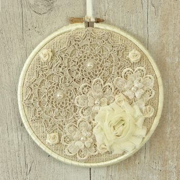 Shabby Chic Home Decoration: Fabric Wall Art