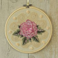 <!-- 011 -->Fabric Hanging Hoop: Floral Wall Decor