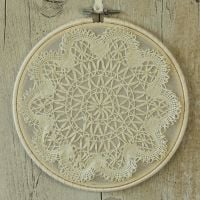 <!-- 004 -->Boho Wall Decoration: Fabric Hanging Hoop