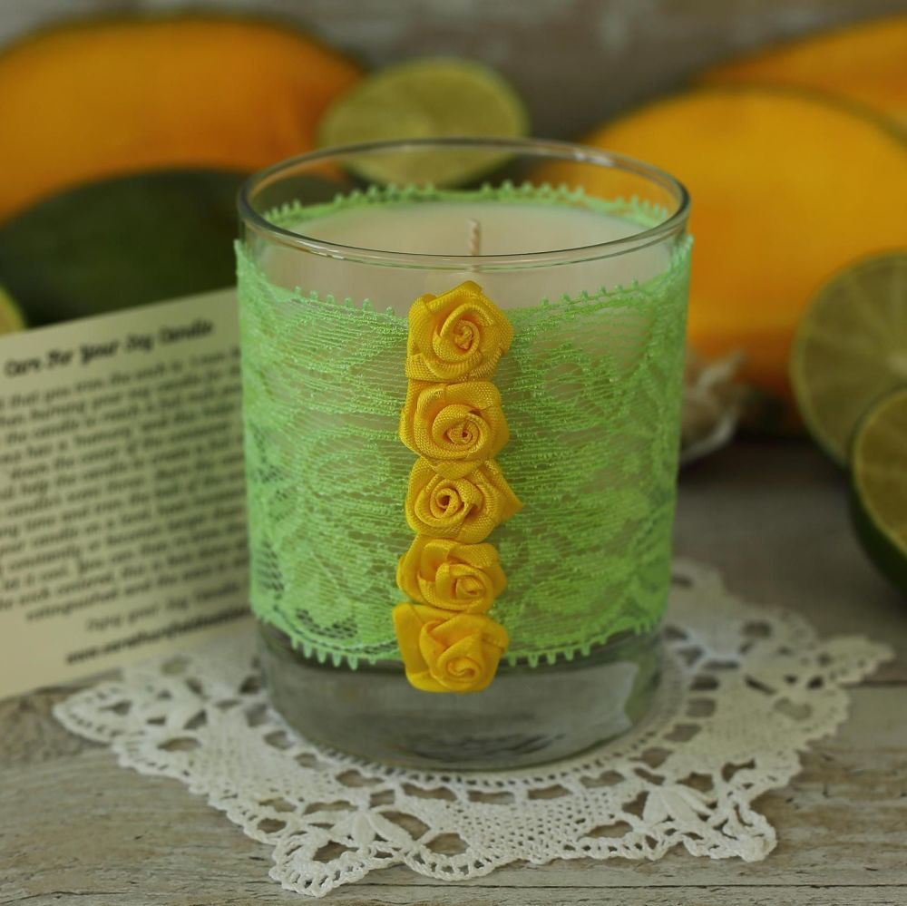 <!-- 008 --> Hand Poured Candle: Thank You Candle Gift
