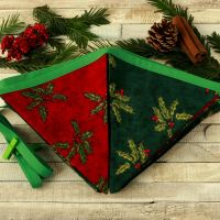 <!-- 036 --> Yule Decoration: Christmas Fabric Bunting