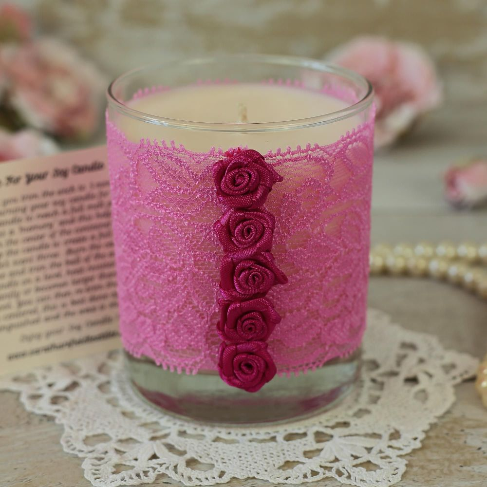 <!-- 002 -->Scented Soy Wax Candle: Valentine's Candle