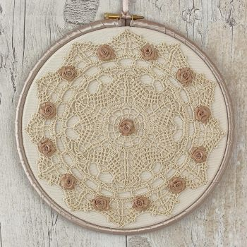 Rustic Wall Hanging: Lace Decoration