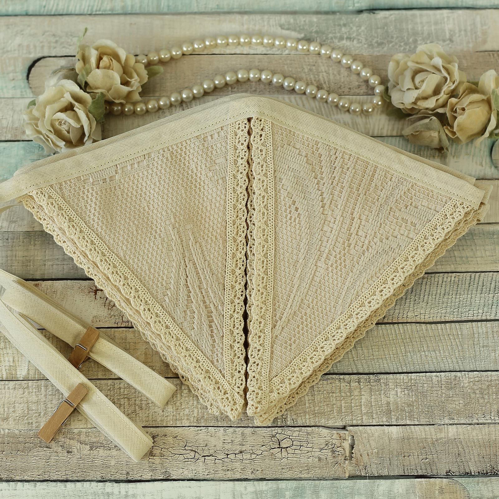 Cream Lace Vintage Bunting