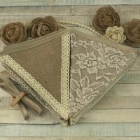 <!-- 032 -->Barn Wedding Decorations: Hessian and Lace Bunting