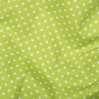 <!--1060-->Rose &amp; Hubble - 3mm Polka Dot in Lime, per fat quarter